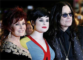 Kelly Osbourne, with mom Sharon and Dad Ozzy