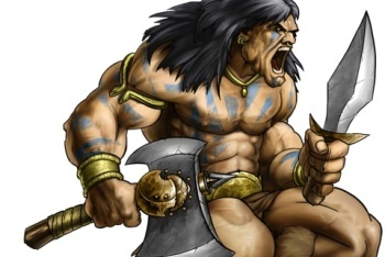 Puzzle Quest 2 artwork Barbarian