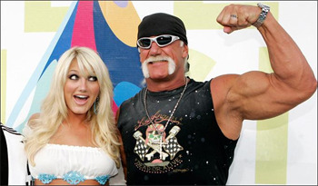 Brooke Hogan and Hulk Hogan