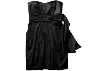 Juniors pleated strapless back-tie party dress from Wal-Mart.com, $12
