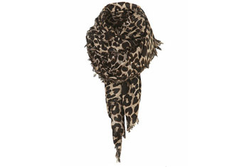Leopard scarf from Topshop.com, $24