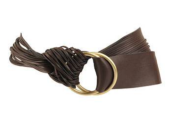 Leatherette fringe belt from Forever21.com, $6.80