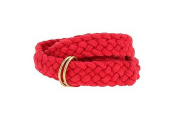 Cooperative cotton braided skinny belt, $18
