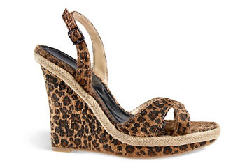 Leopard sandals from Newport-news.com, $39