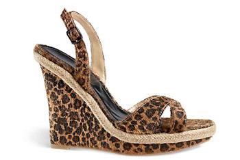 Leopard sandals from Newport-news.com, $39