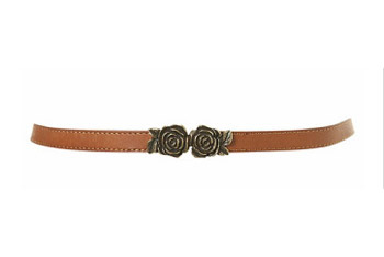 Rose buckle leather belt from Topshop.com, $30