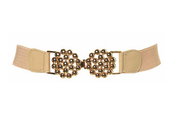 Gold bobble elastic belt from Topshop.com, $24