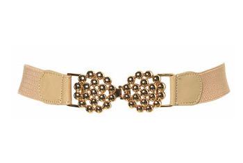 Gold bobble elastic belt from Topshop.com, $24