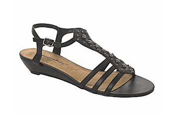 Low wedge stud sandals from NewLook.com, $18