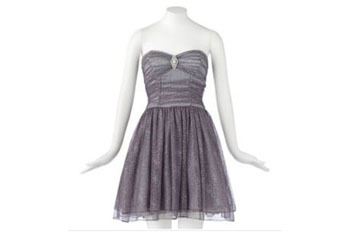 Speechless Glitter mesh strapless dress in silver from Kohl's, $78