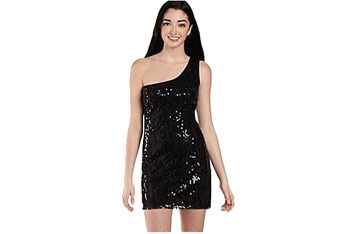 My Michelle 1-shoulder sequin mesh dress from JC Penney, $49.99