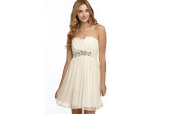 Trixxi jeweled empire waist strapless dress from Nordstrom, $74