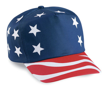 American Flag Themed Hat