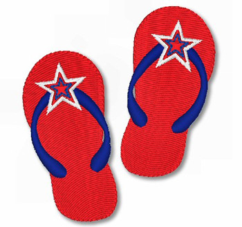 Star-Spangled Sandals