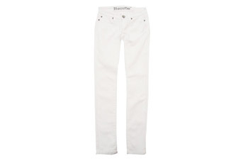 5 pocket skinny white jeans from Bluenotes, $29.50