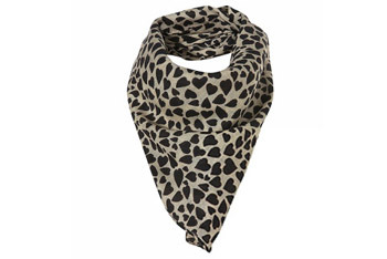 Heart print scarf from Topshop, $18