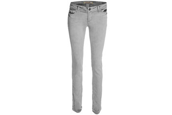Super skinny grey jeans from Garage Clothing, $15