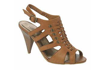Leather woven heels from New Look, $40