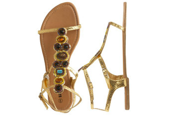 Jewel gladiator from WetSeal.com, $23.28