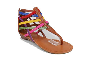 Strappy color block sandals from Gojane.com, $21.30