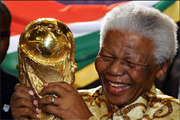 Nelson Mandela with the World Cup