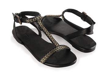 Panther link chain sandals from Forever21.com, $19.80