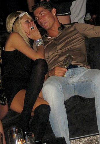 Cristiano Ronaldo and Paris Hilton