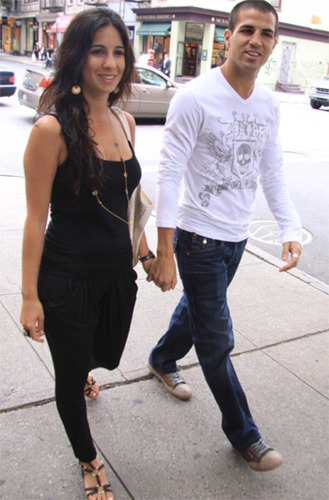 Cesc Fabregas and Carla