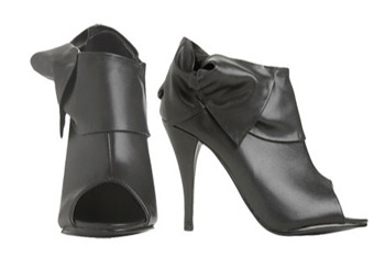 Bowside peeptoe booties from WetSeal.com, $29.50