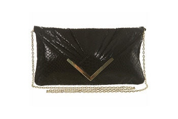 Black clutch bag from MissSelfridge.com, $25