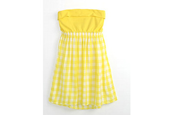 Hurley daisy plaid dress in yellow from Pacsun.com, $49