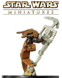 The Battle Droid on STAP fig is a sneak peek from the Clone Strike expansion for the Star Wars Miniatures game from Wizards of the Coast!