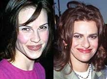 What do you think of this match with Hillary Swank & Sandra Bernhard? Were they separated at birth?