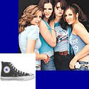 Get The Donnas' glam rock look with a pair of Converse hightops!