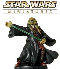 The Kit Fisto Jedi fig is a sneak peek from the Clone Strike expansion for the Star Wars Miniatures game from Wizards of the Coast!