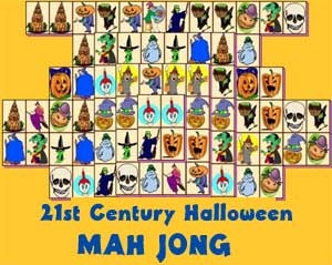 Play a free game of Halloween Mah Jong!