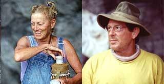 Jan Gentry and Clay Jordan. Chuay Gahn tribemates on Survivor Thailand.