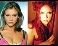 What do you think of this match with Shakira & Alyssa Milano?  Were they separated at birth?