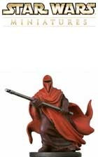 This fig of a Royal Guard is a sneak peek from the Star Wars Miniatures Revenge of the Sith expansion set, based on the Star Wars Episode III movie!