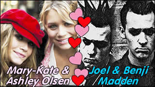 We think that the Olsen Twins and the Madden Twins would make a perfect celebrity match.