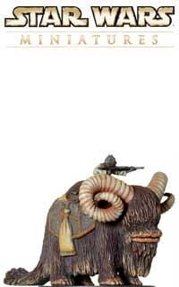 The big hairy Bantha is the favored mount of the Tusken Raiders, like the ones that killed Anakin's mom in Episode II.