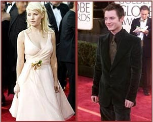 Elisha Cuthbert and Elijah Wood at the 2004 Golden Globes.