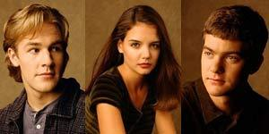 Dawson Leary is played by James Van Der Beek. Joey Potter is played by Katie Holmes. Pacey Witter is played by Joshua Jackson.!