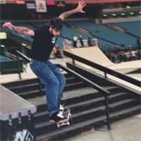 Jumping big set of stairs at 2004 Slam City Jam.