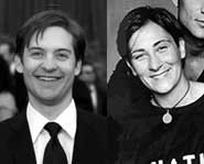 Could Tobey Maguire and k.d. lang be celebrity twins?  Were they separated at birth?