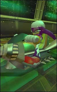 These images from the upcoming Sonic Riders racing game show you some of the action!