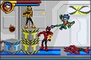 Robin kicks evil's butt in the Teen Titans video game for the Gameboy Advance from Majesco.