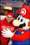 Mario and friends at the NY launch of Super Mario Galaxy.