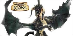 The mighty black dragon figure for the D&D Miniatures game of fantasy battles.