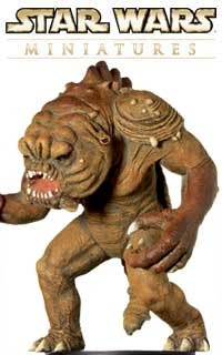 The Rancor is a horrible monster that Jabba the Hutt kept for eating his prisoners in the Star Wars Return of the Jedi movie.